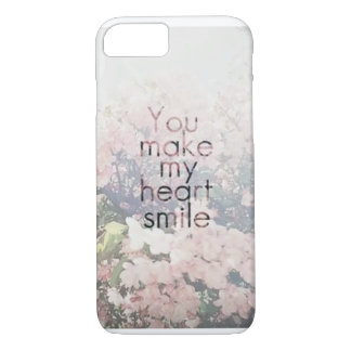 iPhone 7 case -you make my heart smile-