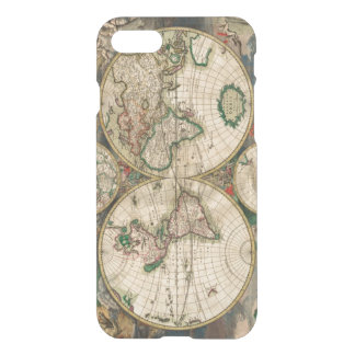 iPhone 7 Clearly Deflector Case Vintage World Map