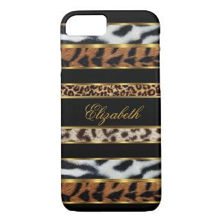 iPhone 7 Elegant Classy Mixed Animal Gold Black 3 iPhone 8/7 Case