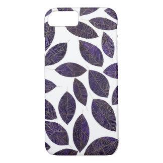 Iphone 7 golden leaf case
