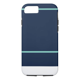 iPhone 7 Navy & Teal Stripe Pattern iPhone 7 Case