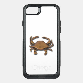 iPhone 7 OtterBox Nautical Copper Crab on White OtterBox Commuter iPhone 7 Case