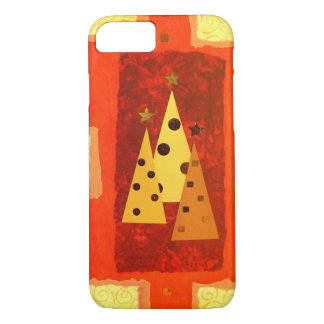 iPhone 7 patchwork tree phone cover