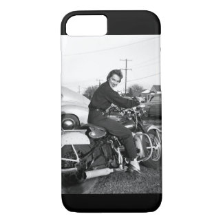 iPhone 7 Phone Case with Motorcycle Chick