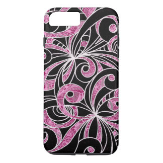 iPhone 7 Plus Case Tough Drawing Floral