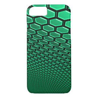 iPhone 7 Sea Foam Green 3D Hexagram Wall Case