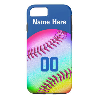 iPhone 7 Softball Cases Your NAME, NUMBER, COLORS