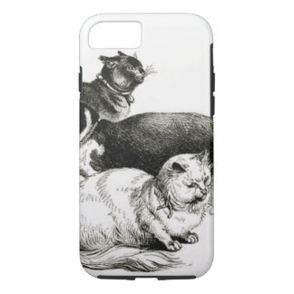 iPhone 7 VINTAGE CATS ART SKETCH iPhone 8/7 Case