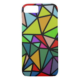 iPhone 7 with colorful geometric triangles iPhone 7 Case