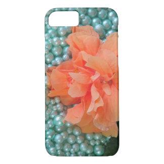 iPhone 8/7 Orange Hibiscus on Beads iPhone 8/7 Case