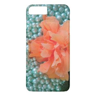 iPhone 8 Plus / 7 Plus Orange Hibiscus on Beads iPhone 8 Plus/7 Plus Case