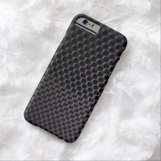 iPhone: Black Metal Speaker Grille Net Barely There iPhone 6 Case