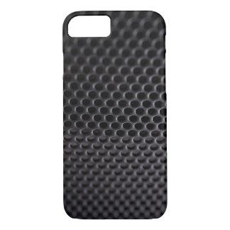 iPhone: Black Metal Speaker Grille Net iPhone 7 Case
