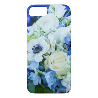 iPhone Case 6/6s, blue and white flowers