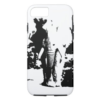 IPhone case black and white print Elephant