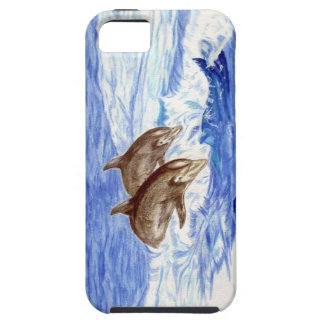 iPhone Case decorated with Dolphins Watercolor iPhone 5 Cases