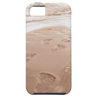 iPhone Case- Footprints In The Sand Tough iPhone 5 Case