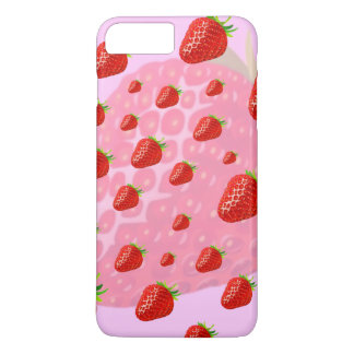 Iphone case, fruits, strawberries. iPhone 7 plus case