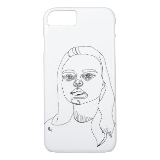 iPhone case // Girl Line Portrait