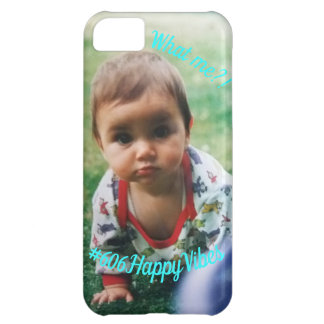 IPhone % case Happy Vibes/Cute/Blue