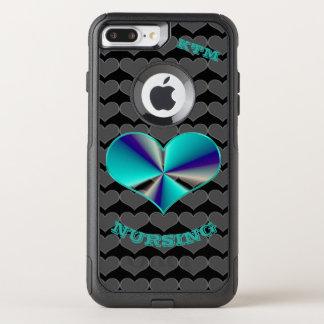 Iphone Case I Love Nursing (blue)