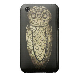iPhone Case - Metal Owl on a Black Background iPhone 3 Cases