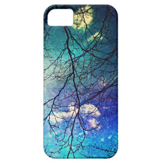 iphone case- night sky, trees, stars, magical iPhone 5 covers