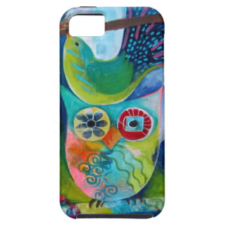IPHONE CASE OWL AND BIRD ART PAINTING