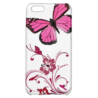iPhone Case Pink Butterfly iPhone 5C Case