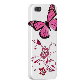 iPhone Case Pink Butterfly Cover For iPhone 5