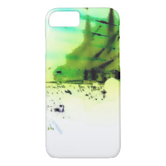 iphone case, Rock Concert Abstract Green iPhone 8/7 Case