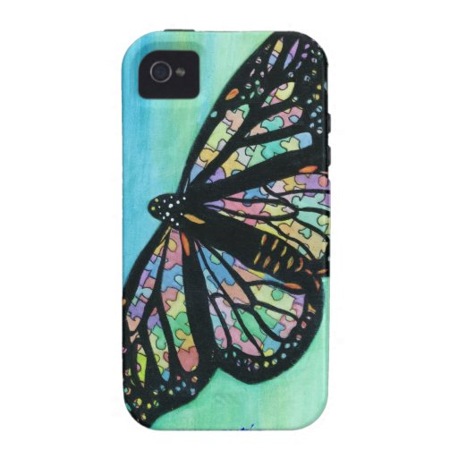 Iphone case with butterfly art by Jann Ellis Thoma Vibe iPhone 4 Case