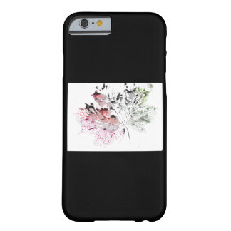 Iphone case with leaf printed design