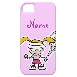 iphone case with tennis girl cartoon