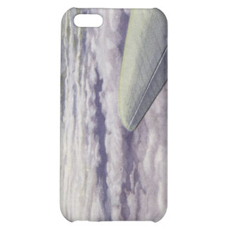 iPhone Case With Wing Of Plane Over Clouds iPhone 5C Covers