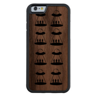 iPhone chase Mars logo Carved Walnut iPhone 6 Bumper Case