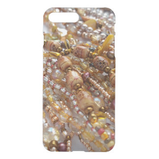 iPhone Clearly Deflector Case- Earthtone Bead Prnt iPhone 8 Plus/7 Plus Case