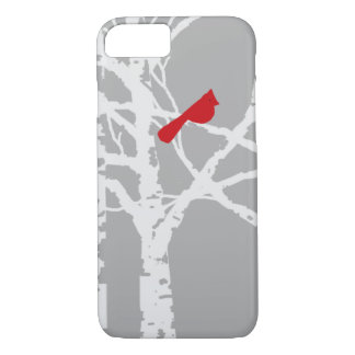 iPhone cover.  Cardinal on tree branch. iPhone 7 Case