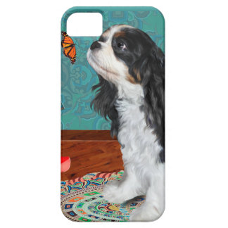 iphone cover, cavalier spaniel with butterfly iPhone 5 cover
