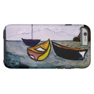 iphone cover with a Boats watercolor Tough iPhone 6 Case