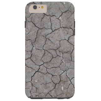 iPhone: Dry and Cracked Gray Soil Clay Tough iPhone 6 Plus Case
