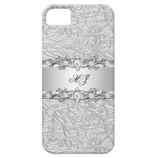 iPhone Elegant Classy Silver White Case For The iPhone 5