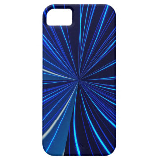 iPhone five phone cover blue pattern