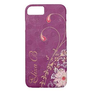 iPhone Galaxy iPad Case Purple with Flowers