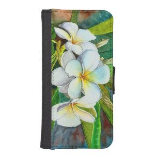 Iphone /Galaxy Wallet Case - White Plumeria