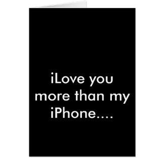 iPhone iLove appy Valentines card