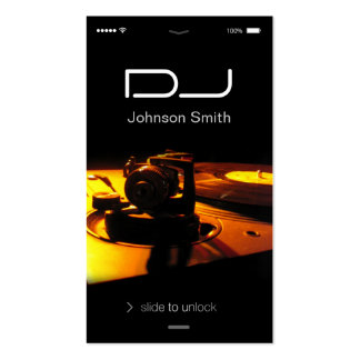 iPhone iOS Style - Turntable headphone Pub DJ Pack Of Standard Business Cards