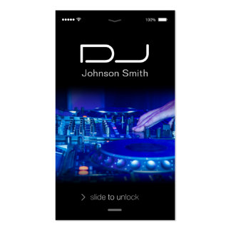 iPhone iOS Style - Turntable Scratching Music Dj Double-Sided Standard Business Cards (Pack Of 100)