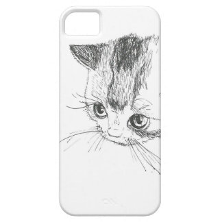 iPhone/iPad Case Cat Drawing