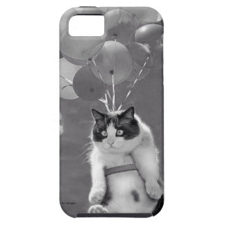 iPhone SE/5/5s Case: Cat flying with Balloons iPhone 5 Case